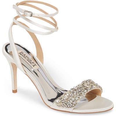 Badgley Mischka Jen Ankle Strap Sandal, White