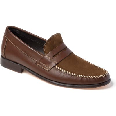 Sandro Moscoloni Hugo Moc Toe Penny Loafer - Brown