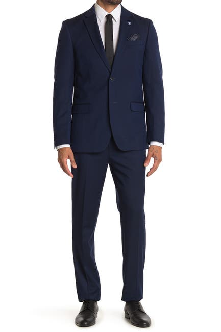 Image of Ben Sherman Navy Nailhead Slim Fit 2-Piece Suit