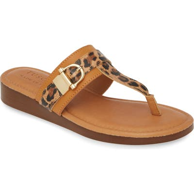 Tuscany By Easy Street Cadenza Flip Flop, Brown