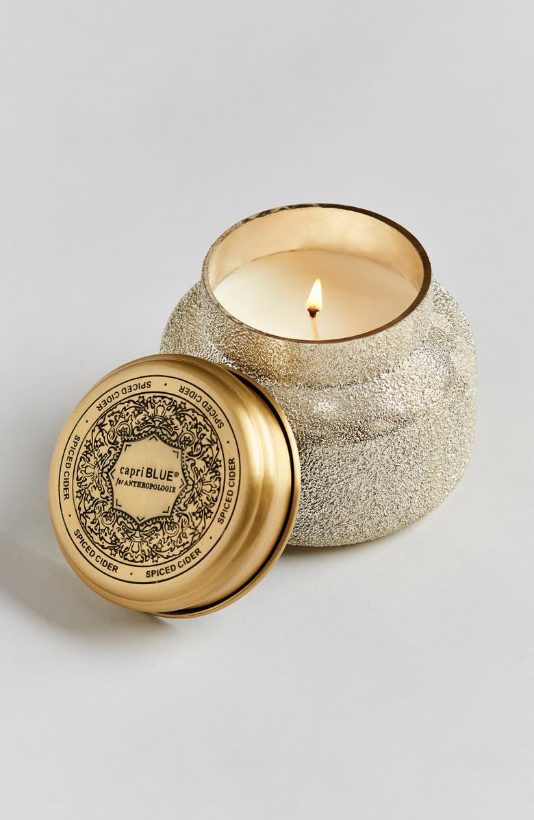 ANTHROPOLOGIE Capri Blue Jar Candle, Main, color, SPICED CIDER