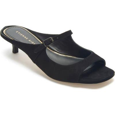 Etienne Aigner Verity Mary Jane Slip-On Sandal- Black