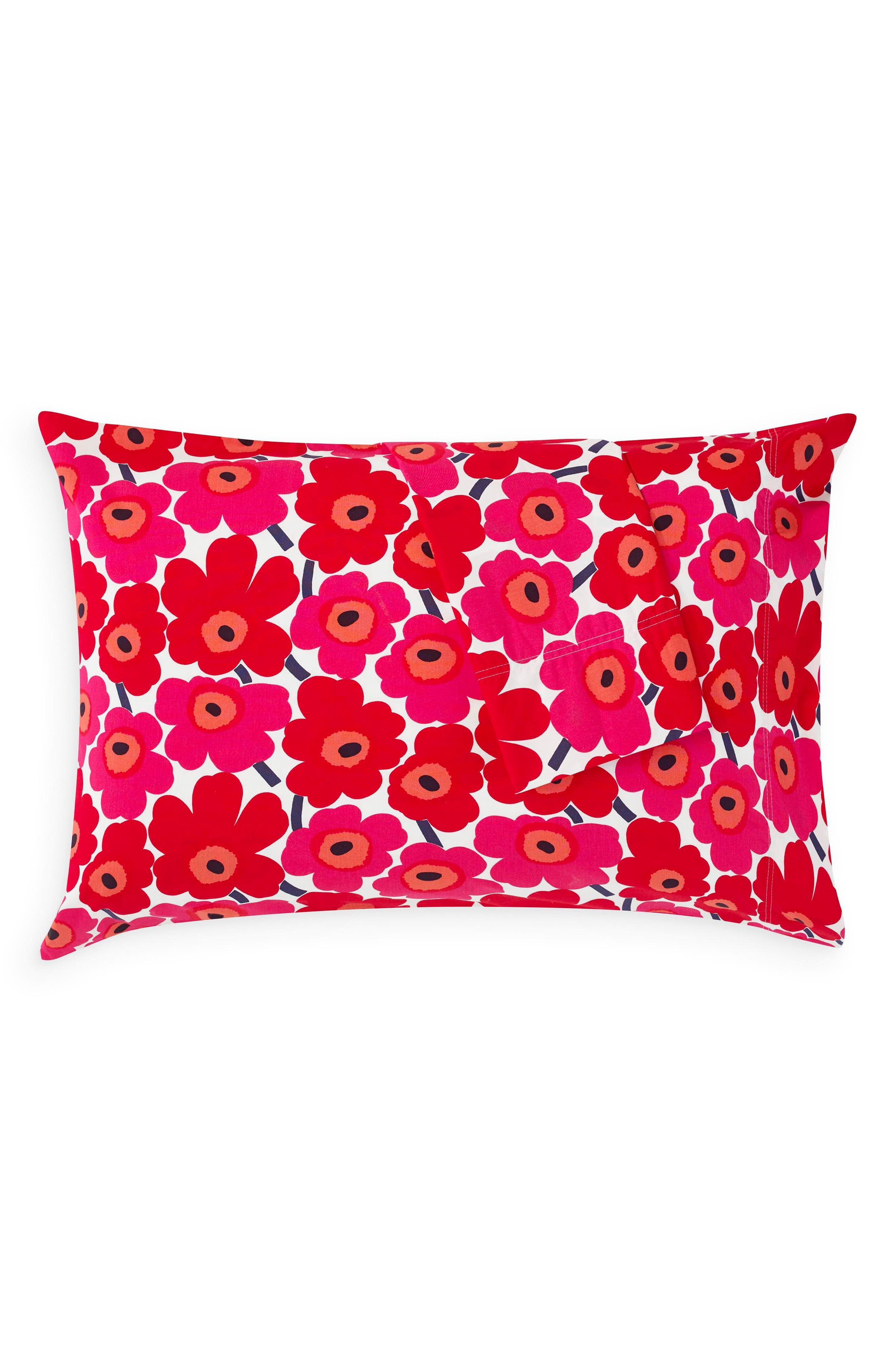 ,                             Mini Unikko Dark Red Pillowcases,                             Alternate thumbnail 2, color,                             DARK RED