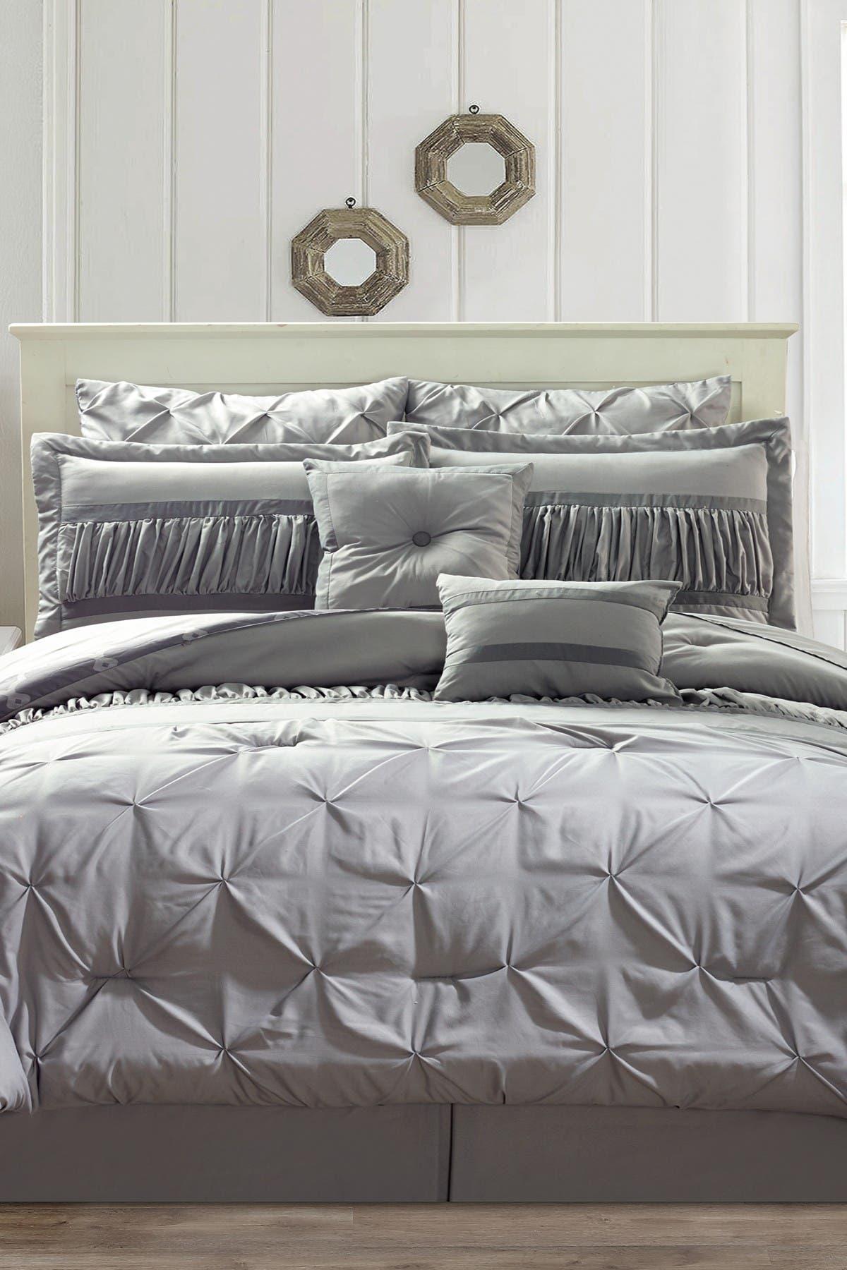 Image of Duck River Textile Marlin 10-Piece Queen Comforter Set - Silver