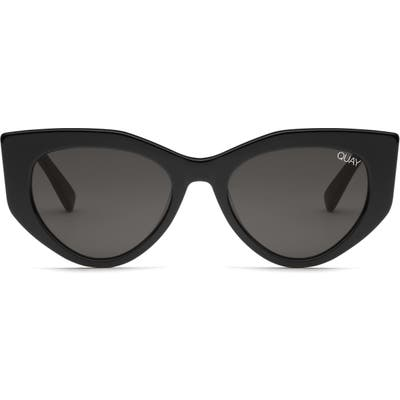 Quay Australia Persuasive 55Mm Cat Eye Sunglasses - Black / Smoke
