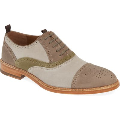 J & m 1850 Chambliss Medallion Toe Oxford, Grey