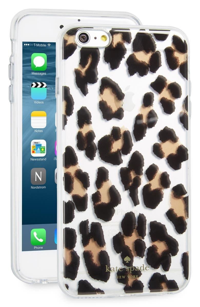 new concept 2afbf b45b8 kate spade new york leopard print iPhone 6 Plus/6s Plus case | Nordstrom