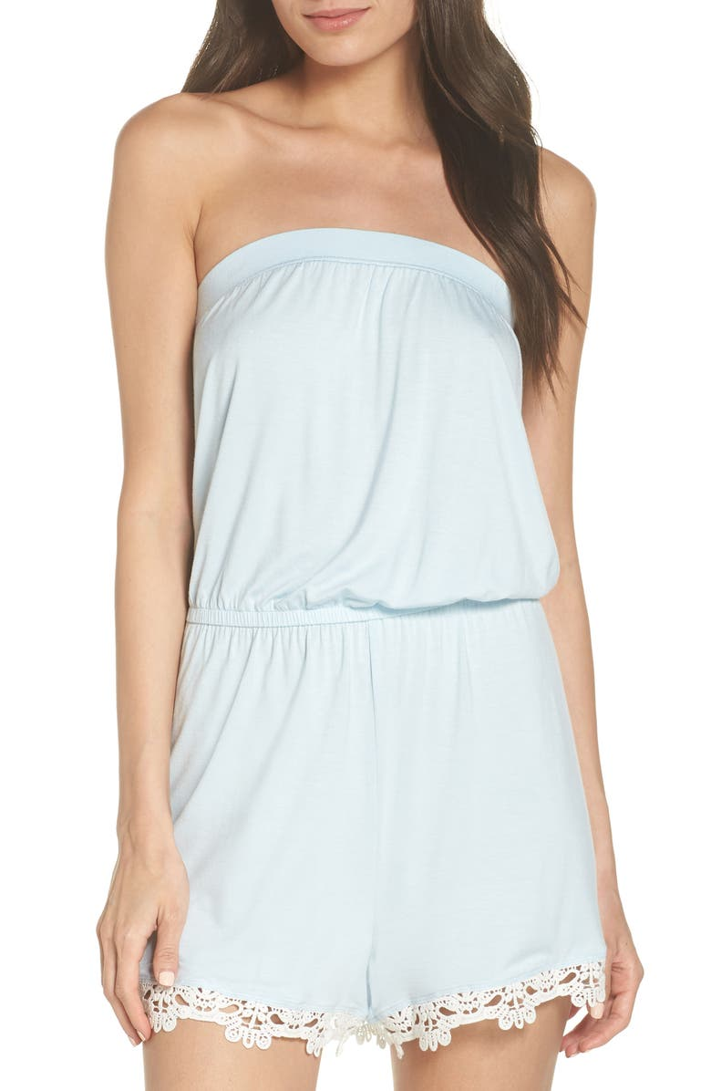 SPLENDID Strapless Lounge Romper, Main, color, 450