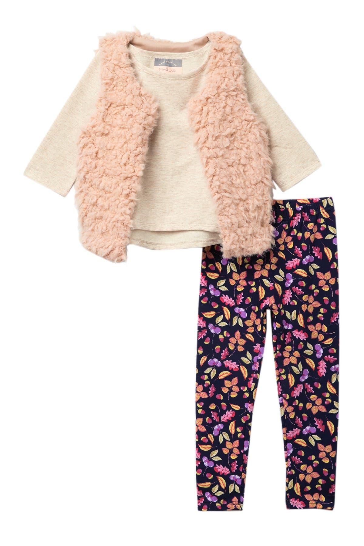Image of Pastourelle by Pippa and Julie Faux Fur Vest Set