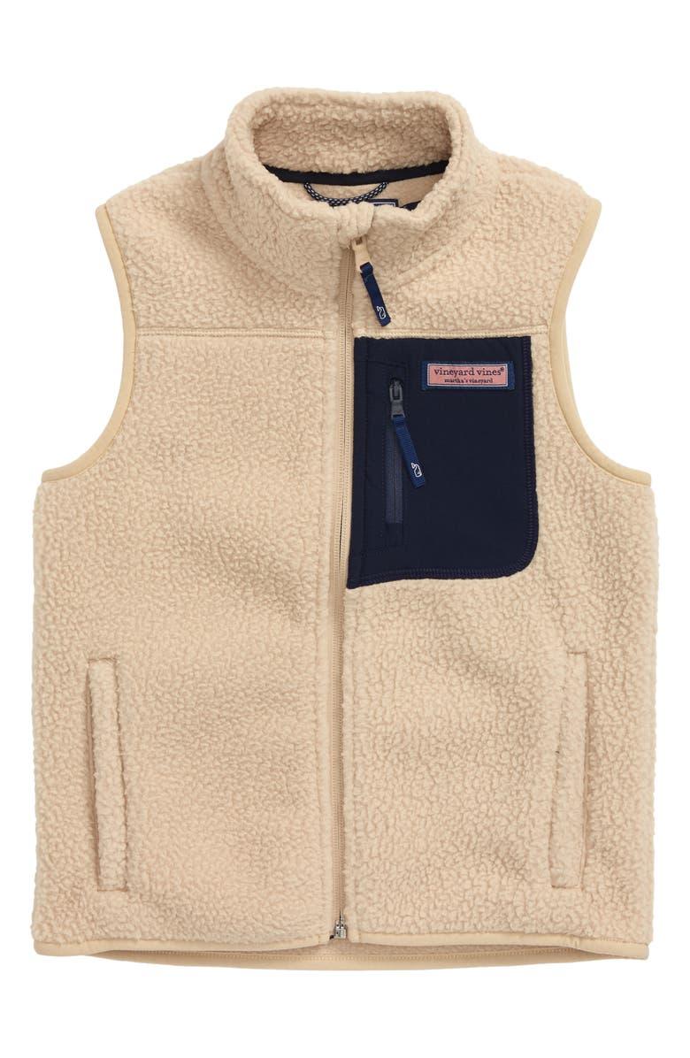 VINEYARD VINES Solid Fleece Vest, Main, color, 218
