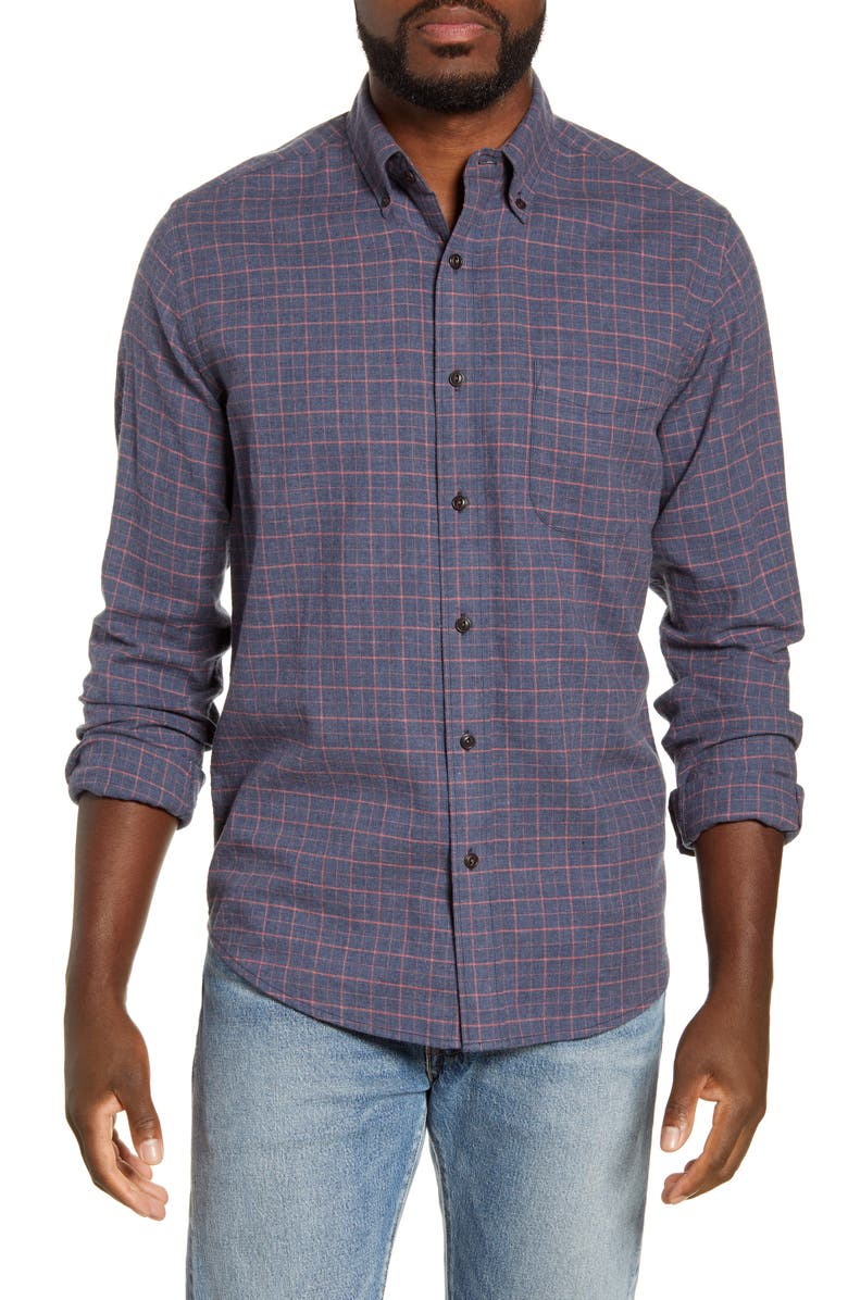 FAHERTY Everyday Regular Fit Check Button-Down Shirt, Main, color, HAYES CHECK