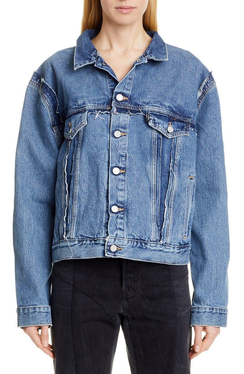 VETEMENTS Double Sided Denim Jacket, Main, color, 400