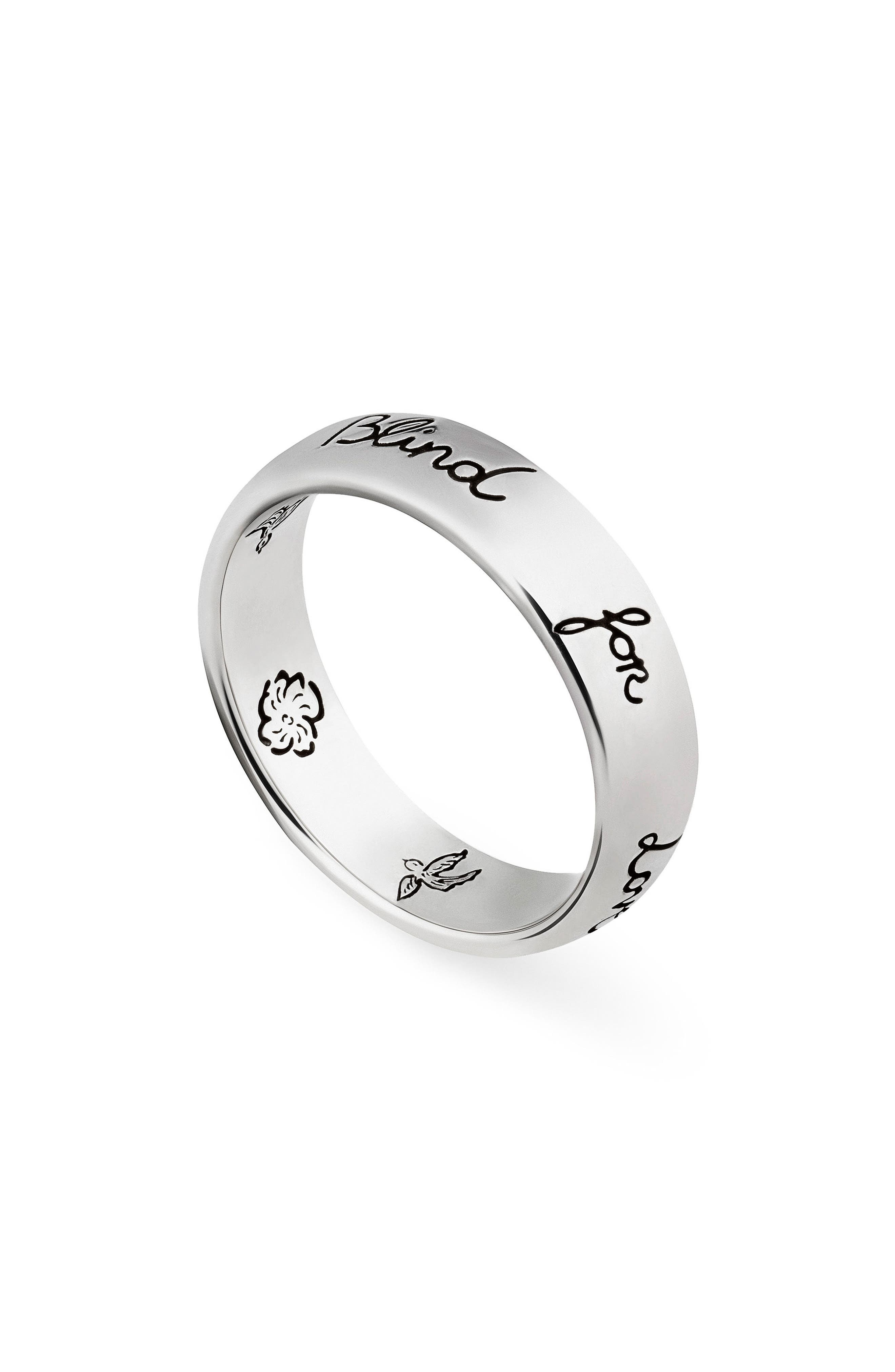 Blind for Love Ring, Main, color, STERLING SILVER