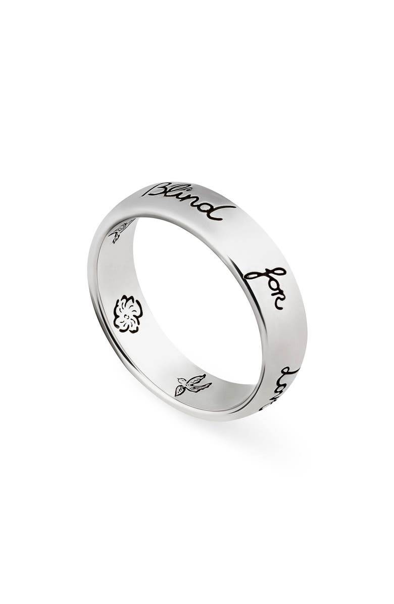 GUCCI Blind for Love Ring, Main, color, STERLING SILVER