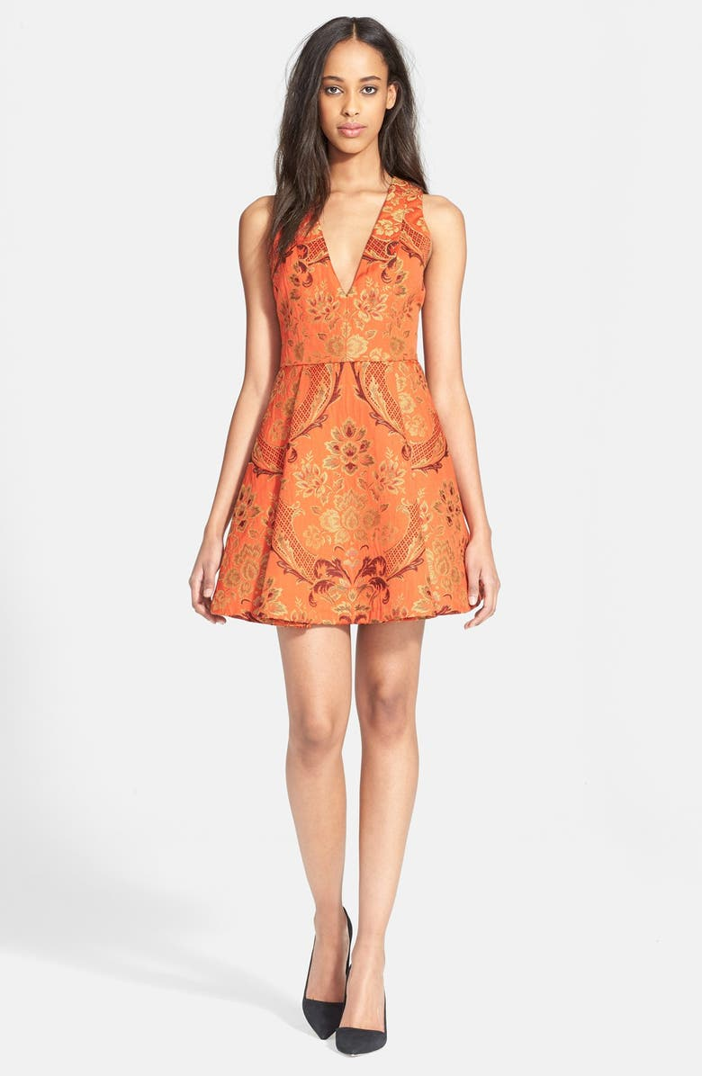 Alice + Olivia 'Mollie' Pleated Fit & Flair Dress | Nordstrom