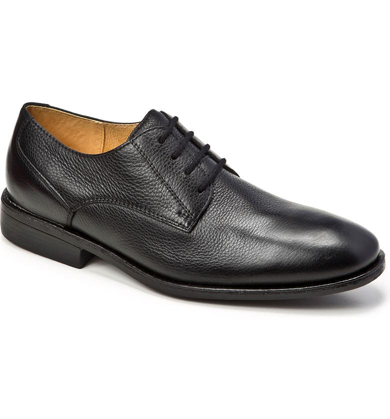 SANDRO MOSCOLONI Wallace Plain Toe Derby, Main, color, BLACK