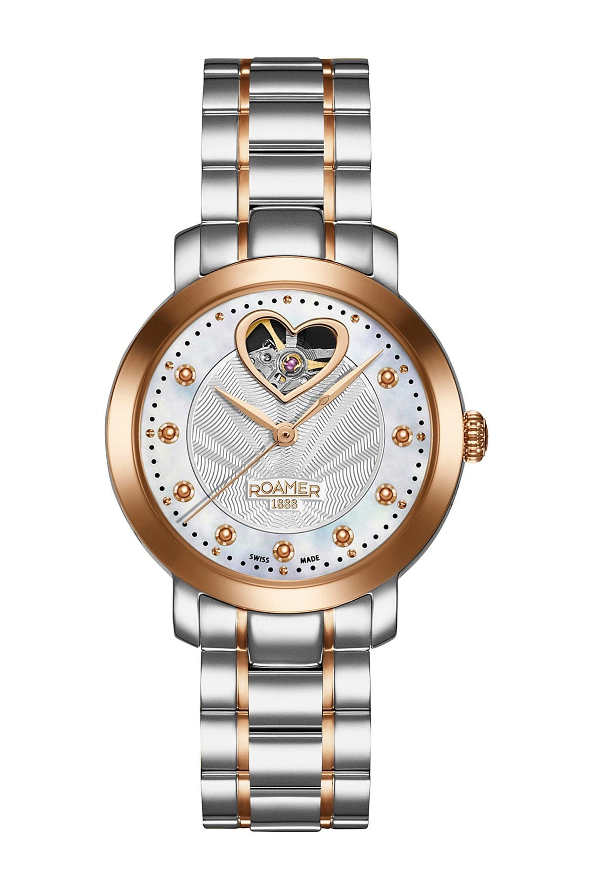 Image of Roamer Women's Sweetheart Automatic Two-Tone Stainless Steel Strap Watch, 34mm