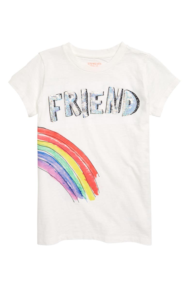 CREWCUTS BY J.CREW Friend Best Tee, Main, color, 900