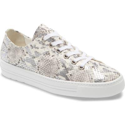 Paul Green Ally Low Top Sneaker, .5UK - Metallic