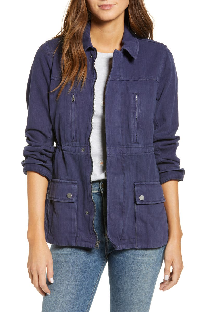 LUCKY BRAND Laurel Utility Jacket, Main, color, 408