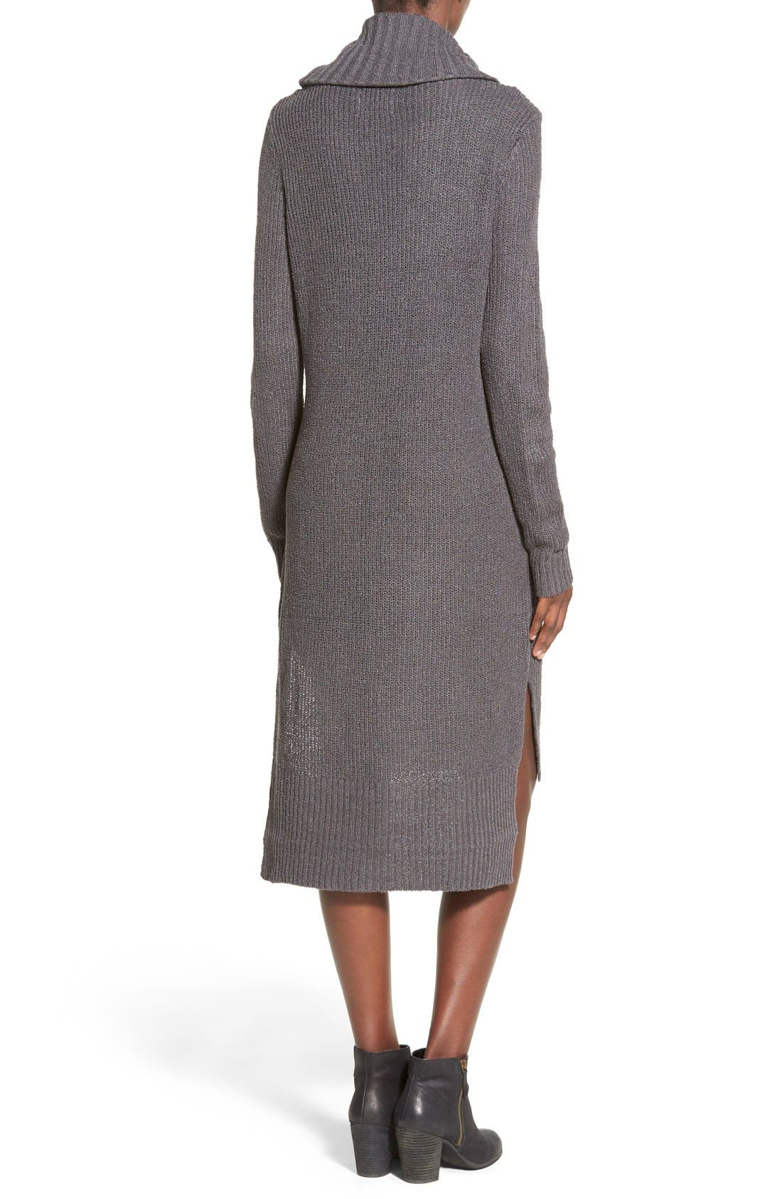 ,                             Cowl Neck Sweater Dress,                             Alternate thumbnail 2, color,                             021