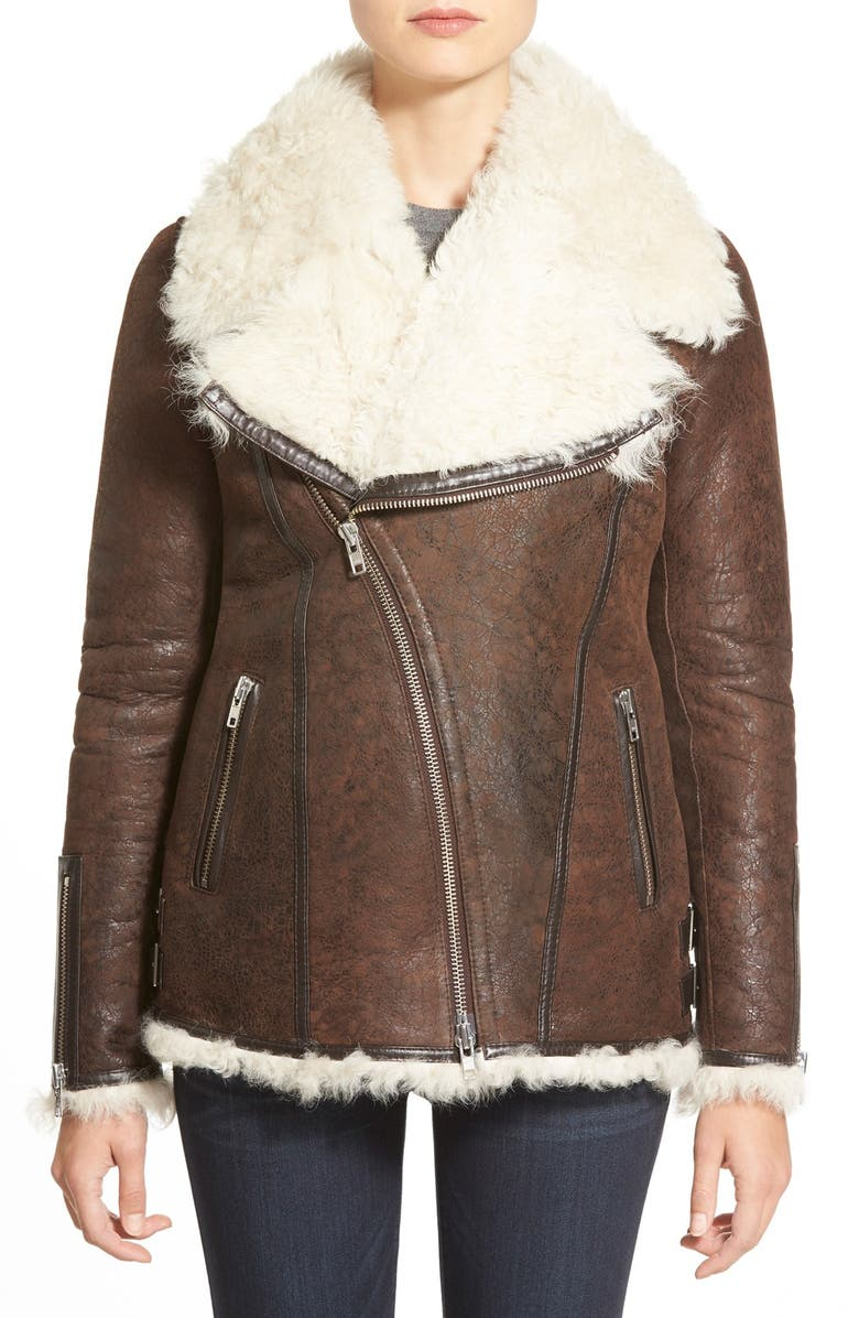 LAMARQUE GenuineShearlingAviator Jacket, Main, color, 225