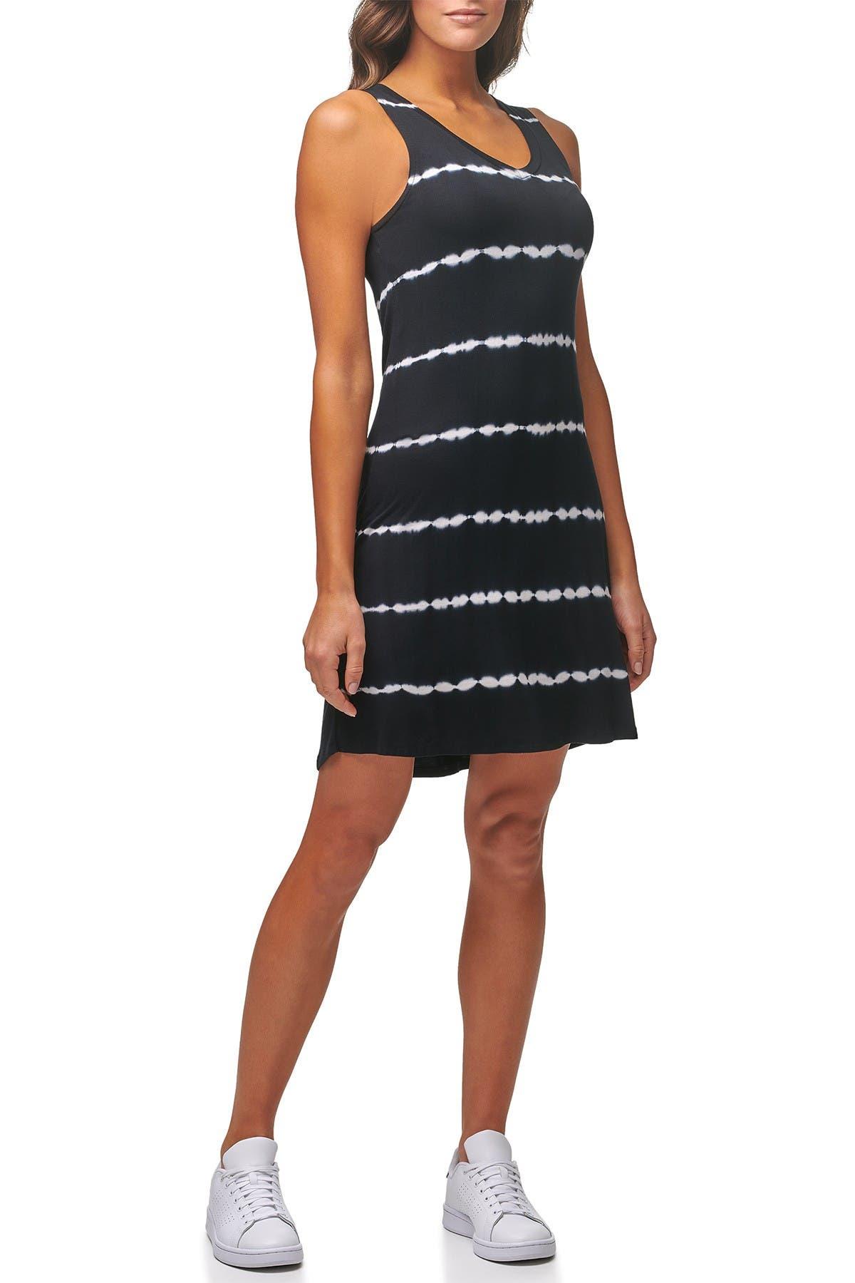 Image of MARC NEW YORK PERFORMANCE Tie Dye V-Neck Sleeveless A-Line Dress
