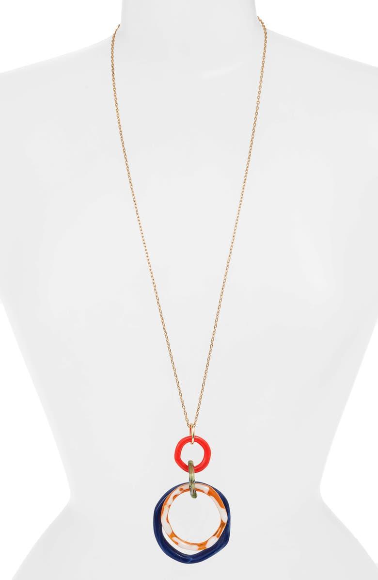 LELE SADOUGHI Twig Banded Pendant Necklace, Main, color, FAIRYTALE BLUE