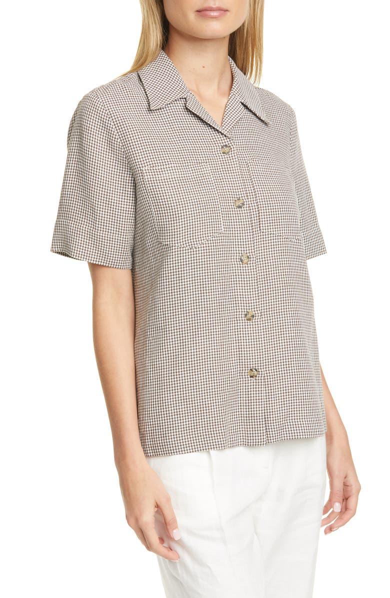 REMAIN BIRGER CHRISTENSEN Sienna Gingham Shirt, Main, color, 020