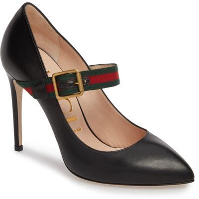 Gucci Sylvie Mary Jane Pump, Black