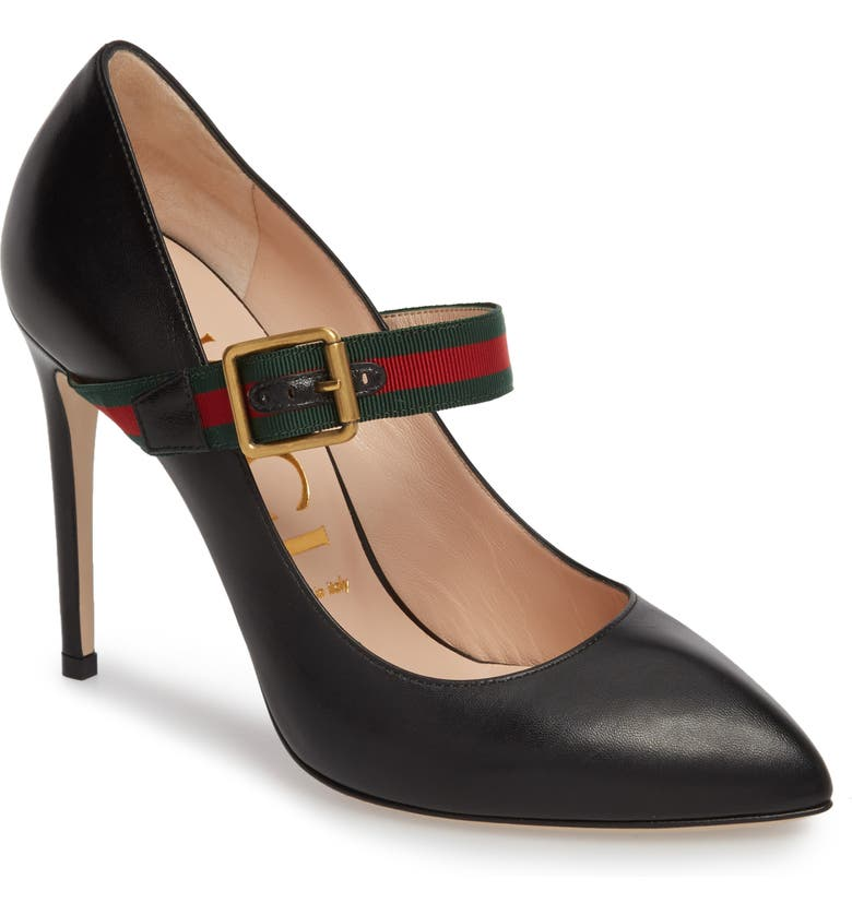 GUCCI Sylvie Mary Jane Pump, Main, color, BLACK