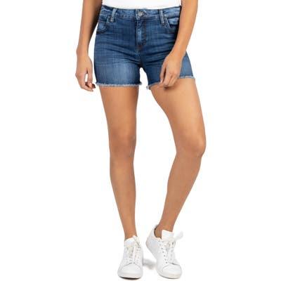 Kut From The Kloth Gidget High Waist Fray Hem Cutoff Denim Shorts, Blue