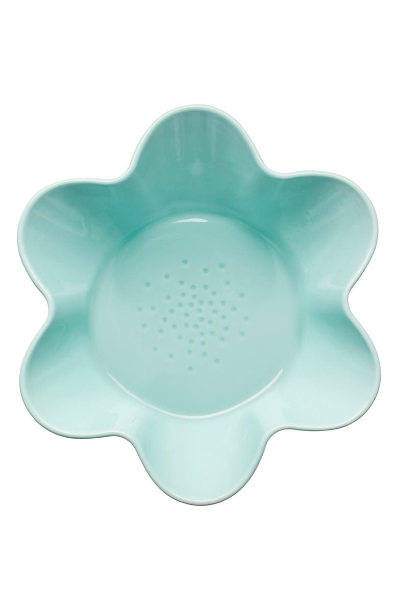 SAGAFORM Piccadilly Flower Serving Bowl, Main, color, TURQUOISE