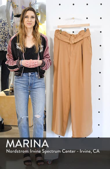 Paperbag Waist Wide-Leg Pants, sales video thumbnail