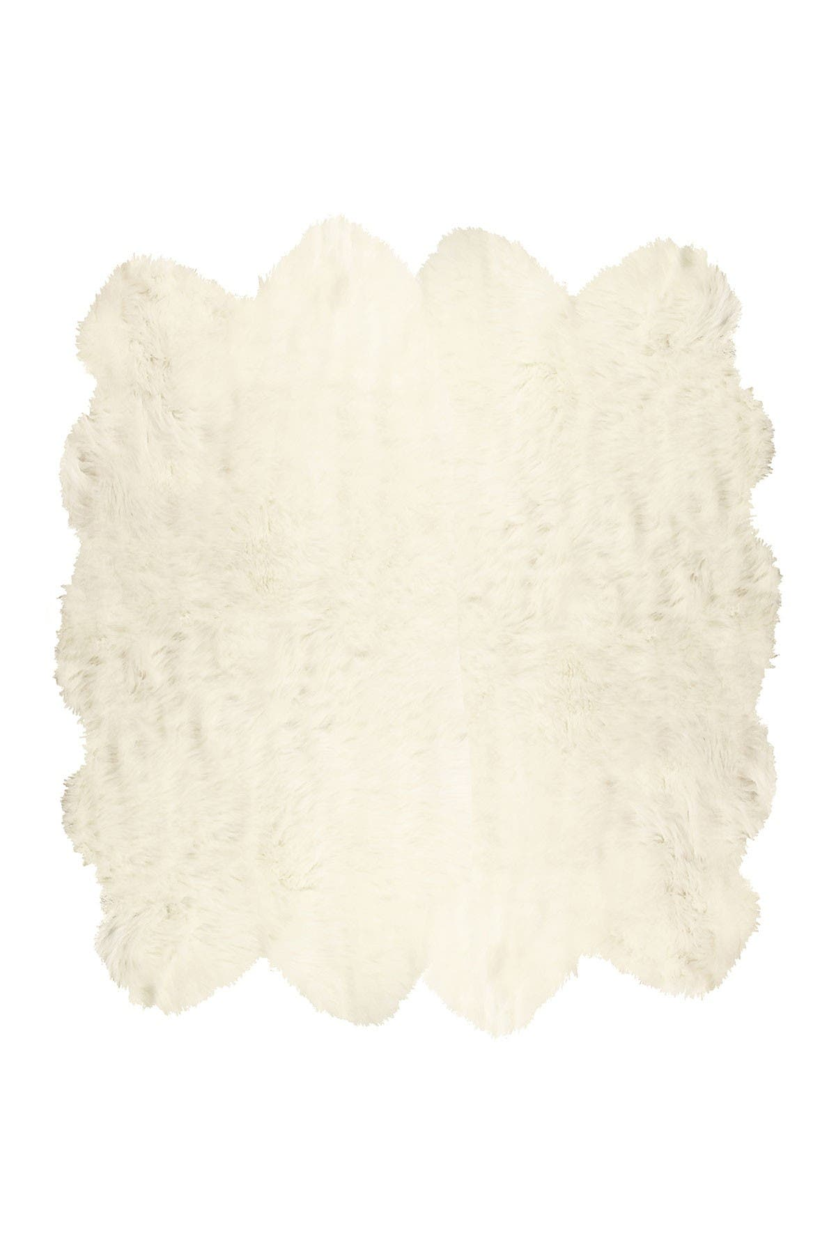 Image of LUXE Gordon Faux Sheepskin Rug - Off White