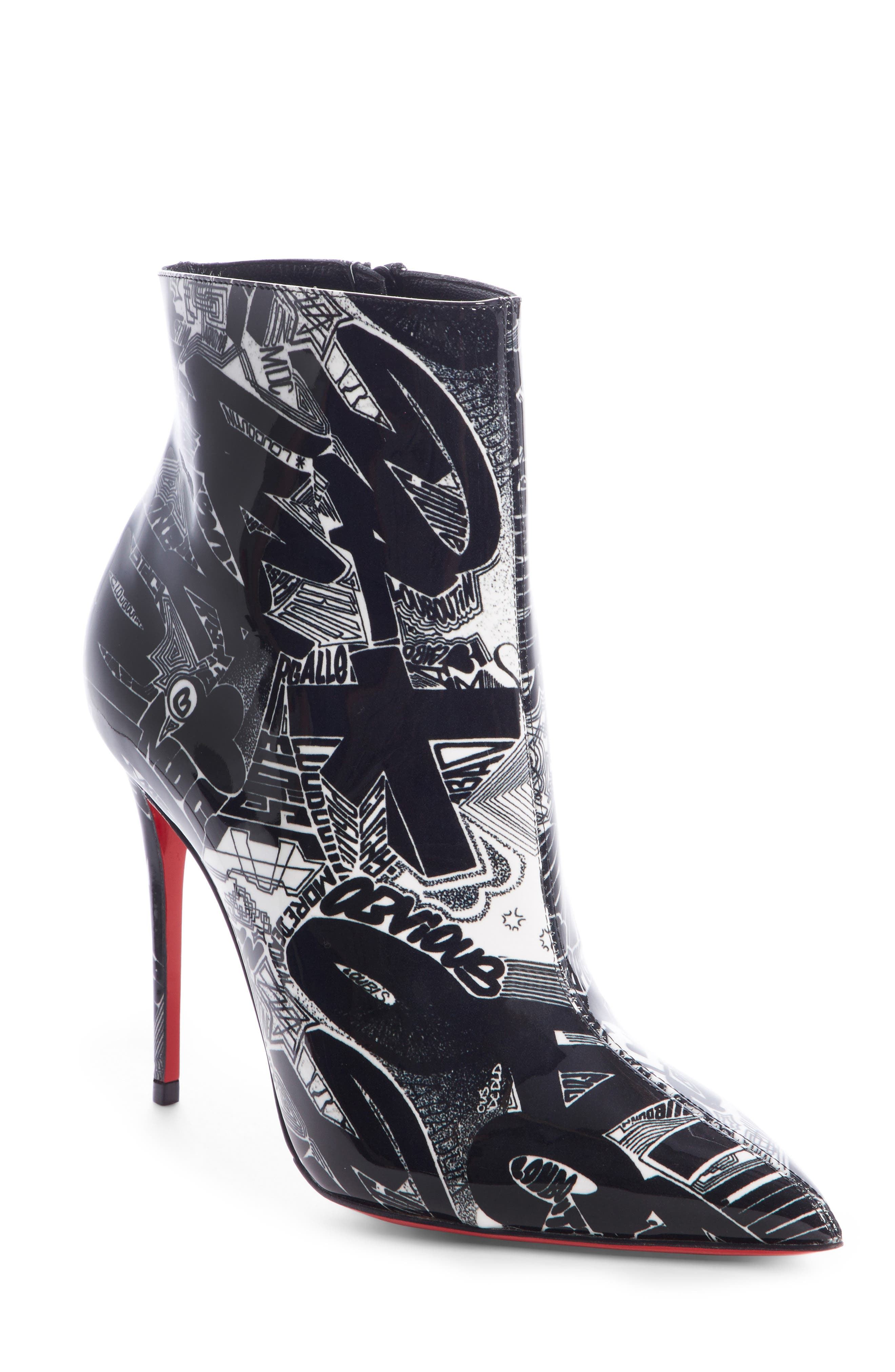 Christian Louboutin So Kate Graffiti Bootie, Black