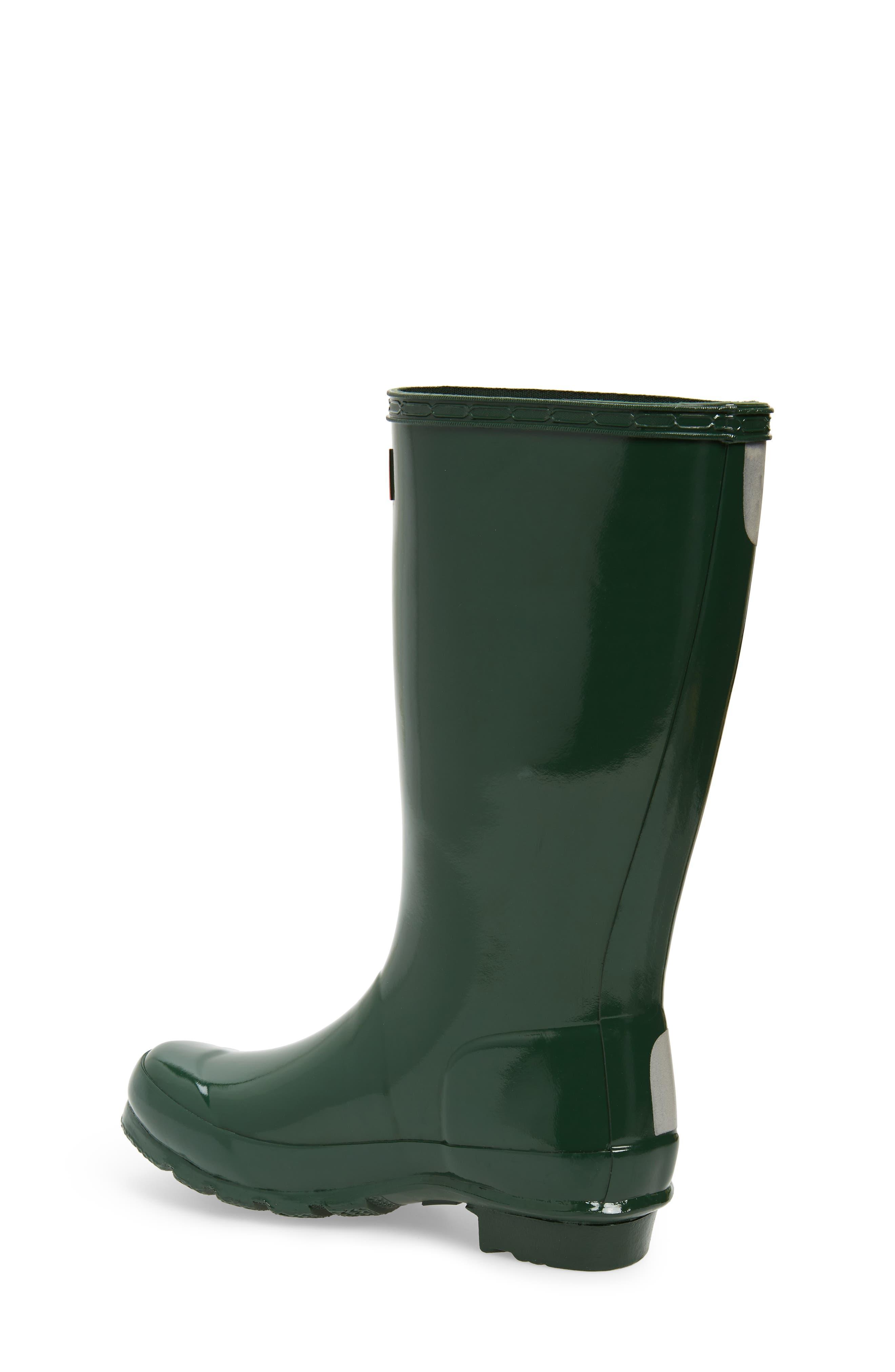 ,                             Original Gloss Rain Boot,                             Alternate thumbnail 2, color,                             HUNTER GREEN