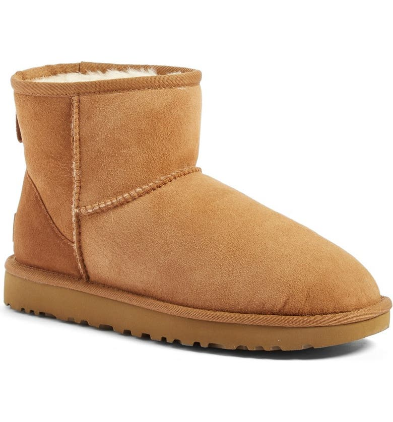 UGG<SUP>®</SUP> Classic Mini II Genuine Shearling Lined Boot, Main, color, CHESTNUT SUEDE