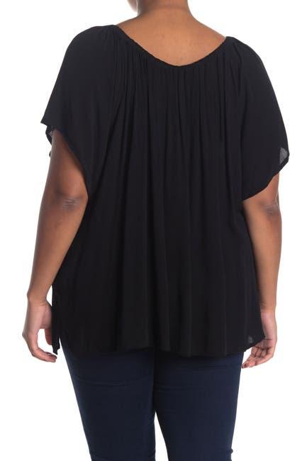 Image of Sanctuary Flutter Sleeve Front Button Gauze Shirt
