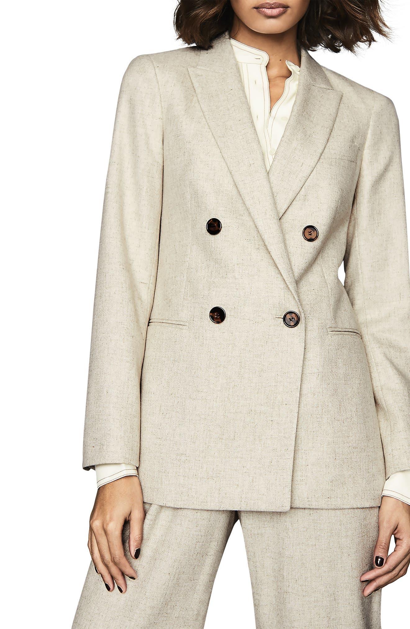 Reiss Lauren Double Breasted Suit Jacket