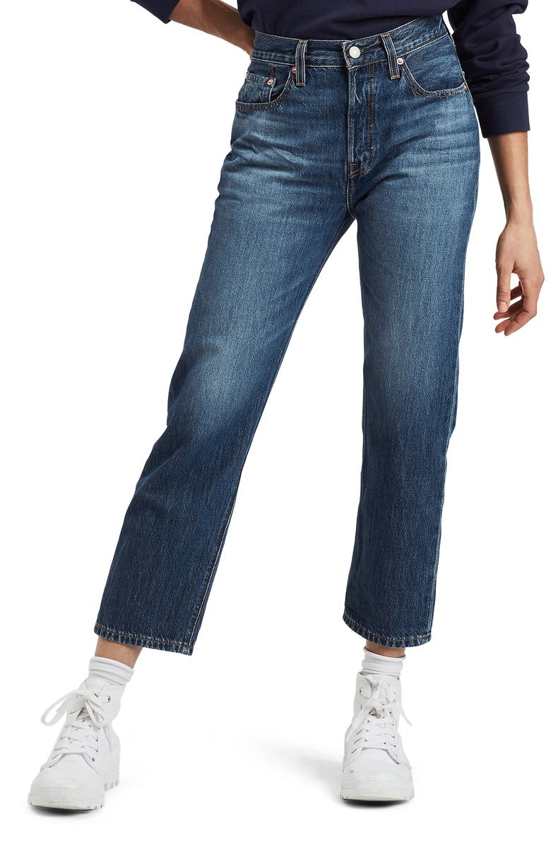 new images of 100% authenticated Good Prices 501® High Waist Crop Straight Leg Jeans