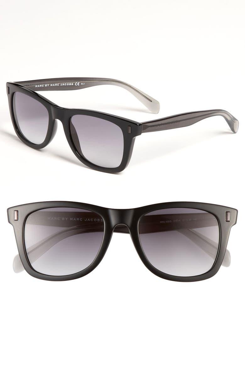 MARC BY MARC JACOBS 51mm Retro Sunglasses, Main, color, 001