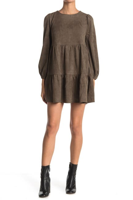 Image of Flying Tomato Suede Mini Dress