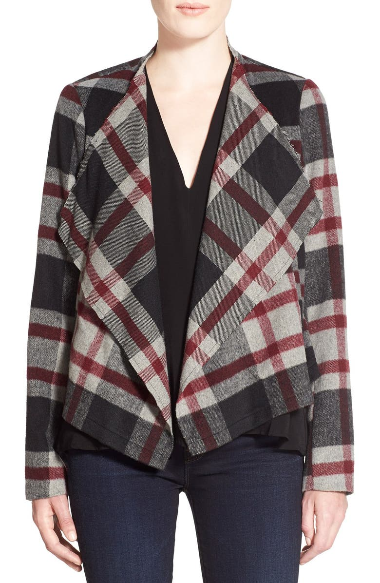 CUPCAKES AND CASHMERE 'Alta' Plaid Jacket, Main, color, 100