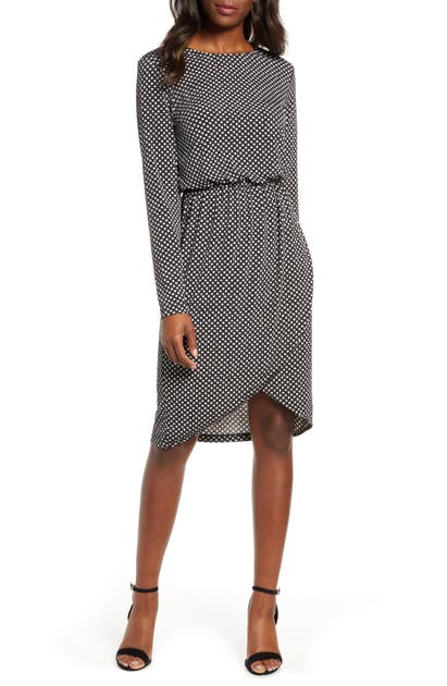 Leota Dresses ANGELINA LONG SLEEVE JERSEY DRESS