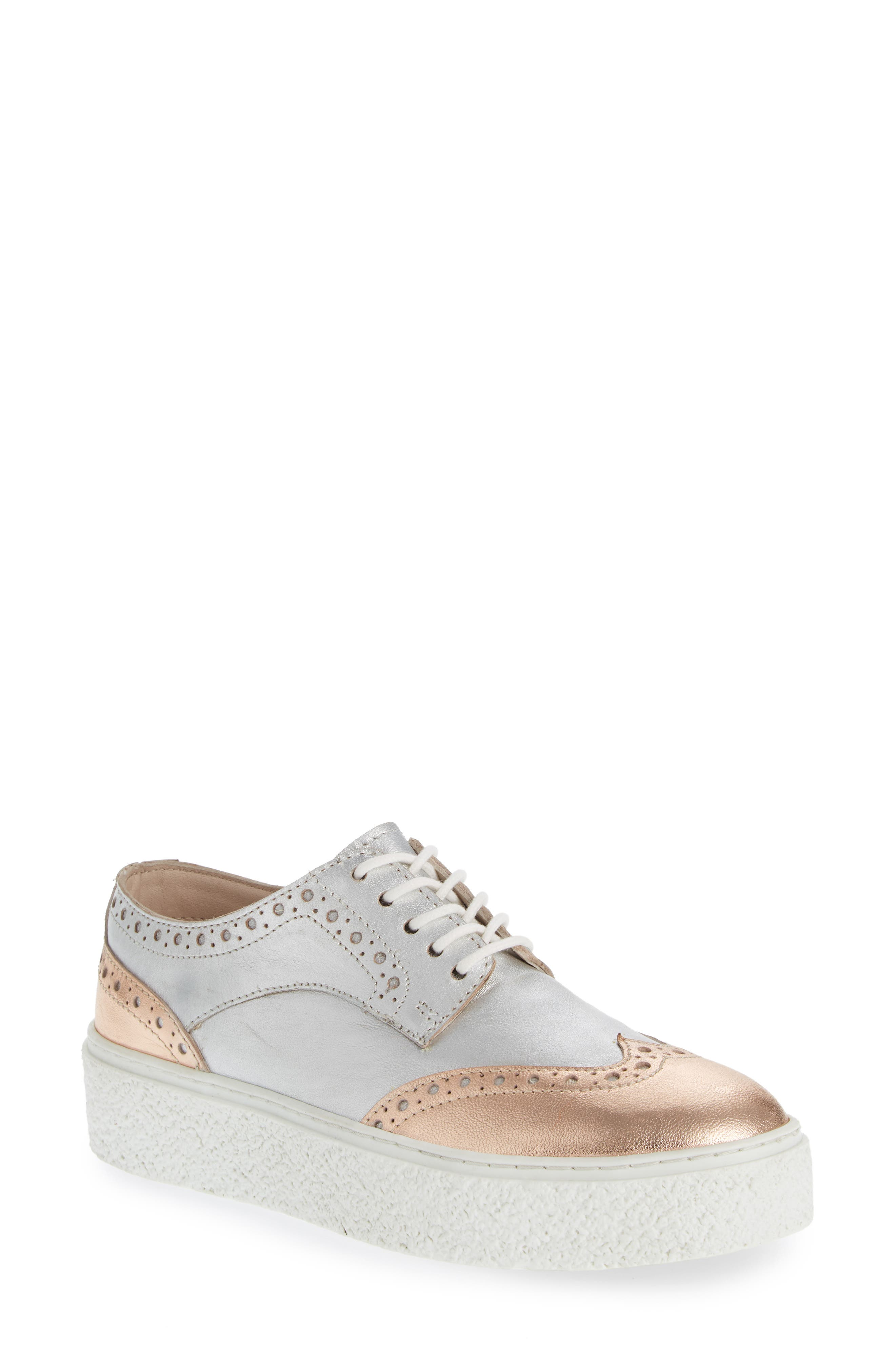 Seychelles Ideal Platform Sneaker, Metallic
