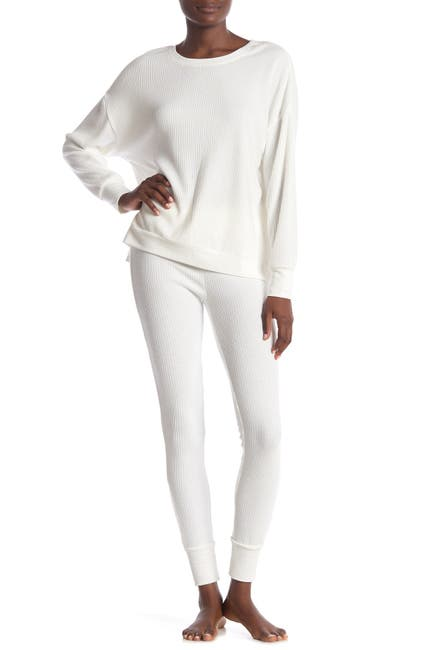 Image of Honeydew Intimates Sleep Queen Ribbed Knit Leggings