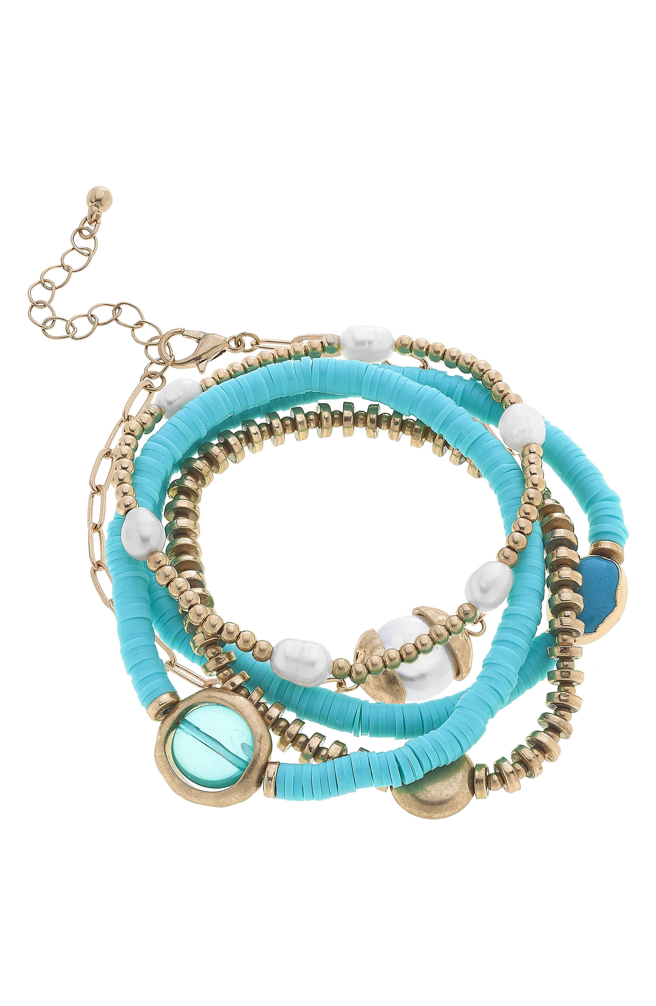 Marlowe Set Of 5 Stacking Bracelets