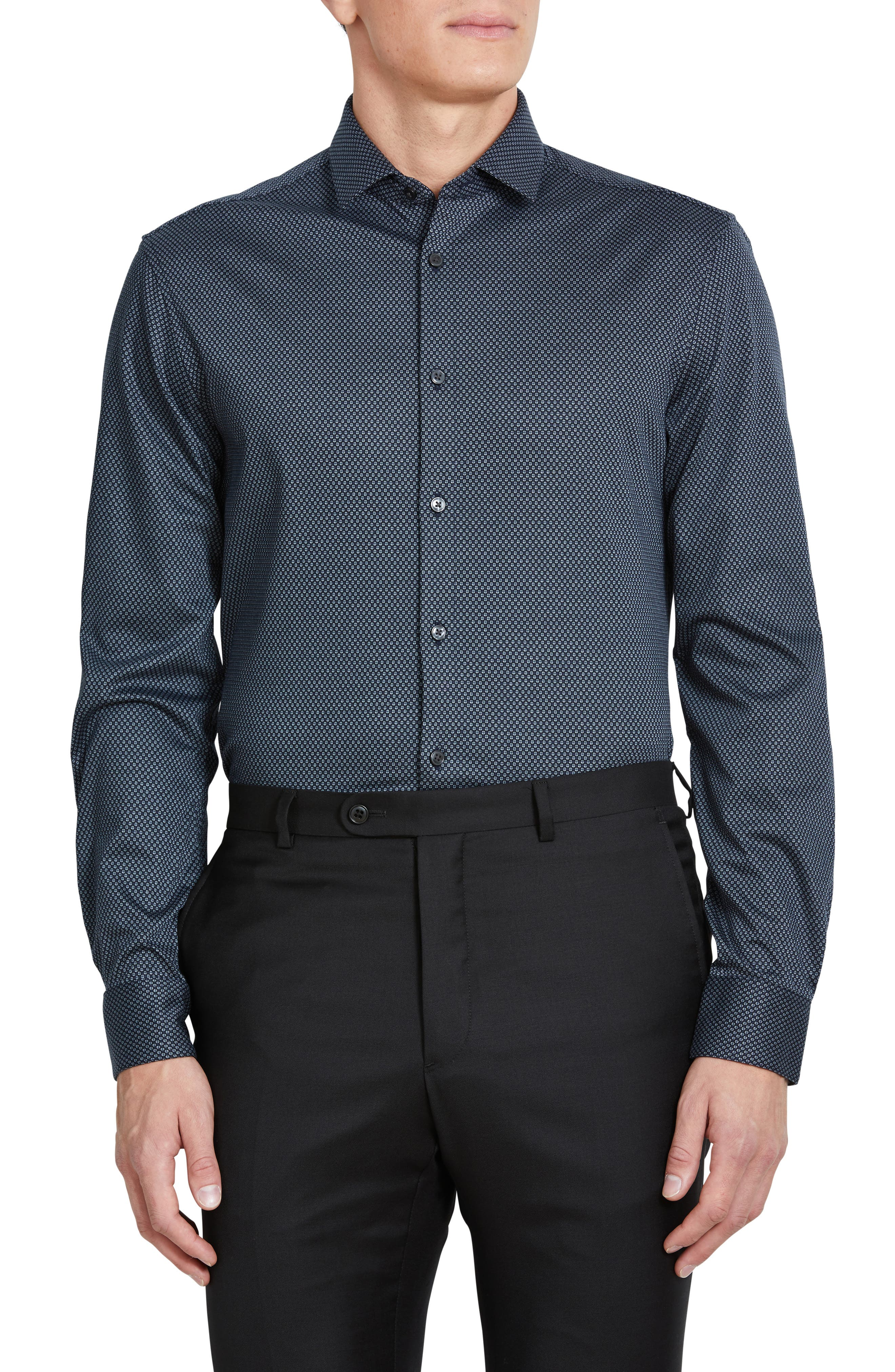 Men's John Varvatos Star Usa Slim Fit Jersey Knit Dress Shirt