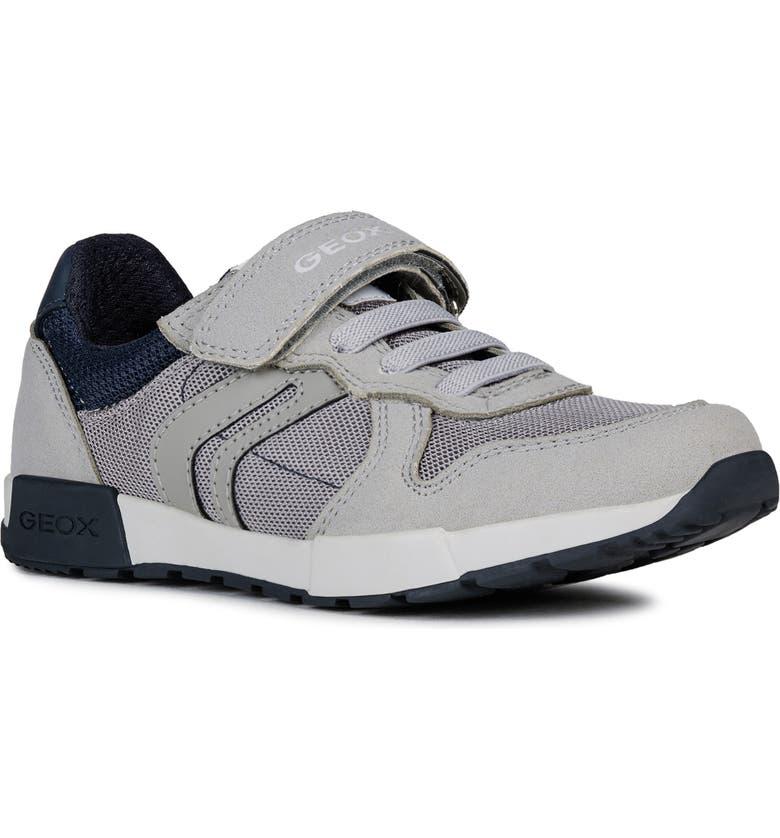 GEOX Alfier Sneaker, Main, color, GREY/ NAVY